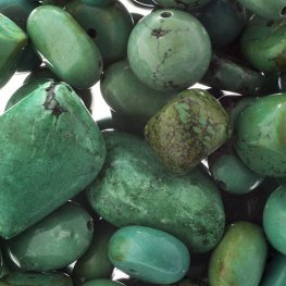 Stone Beads - Assorted Earths Jewels - Green Turquoise Dyed (Pack)