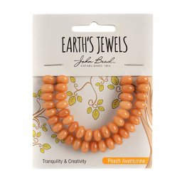 Stone Beads - 5x8mm Earths Jewels Rondelles - Peach Aventurine (Pack)
