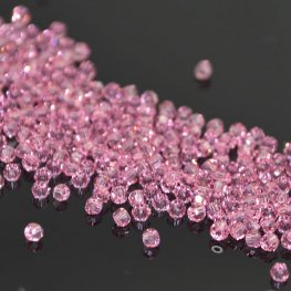 Swarovski Bead - 2mm Faceted Round (5000) - Light Rose (72)
