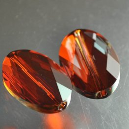 Swarovski Bead - 16x22mm Oval (5050) - Crystal Red Magma