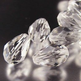 Swarovski Bead - 6x9mm Faceted Drop (5500) - Crystal