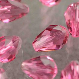 Swarovski Bead - 6x9mm Faceted Drop (5500) - Rose