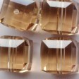 Swarovski Bead - 8mm Faceted Cube (5601) - Light Colorado Topaz
