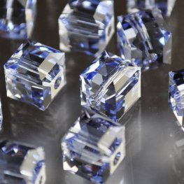 Swarovski Bead - 8mm Faceted Cube (5601) - Provence Lavender