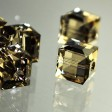 Swarovski Bead - 8mm Faceted Cube (5601) - Greige