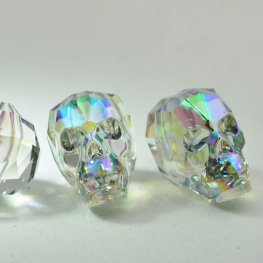 Swarovski Bead - 19mm Faceted Skull (5750) - Crystal Paradise Shine