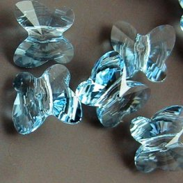 Swarovski Bead - 8mm Faceted Butterfly (5754) - Aquamarine