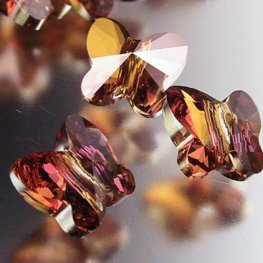 Swarovski Bead - 8mm Faceted Butterfly (5754) - Crystal Copper
