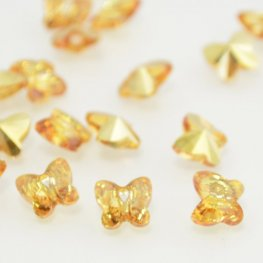 Swarovski Bead - 8mm Faceted Butterfly (5754) - Crystal Metallic Sunshine