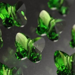 Swarovski Bead - 10mm Faceted Butterfly (5754) - Fern Green