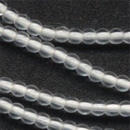 Glass - 3mm Druks - Crystal (strand)