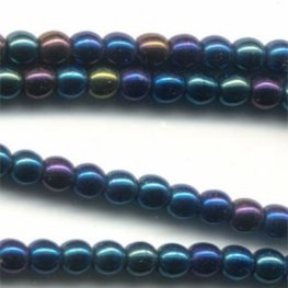Glass - 3mm Druks - Blue Iris (Strand 60)