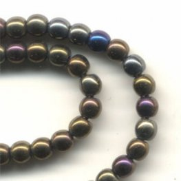 Glass - 3mm Druks - Brown Iris (Strand 60)