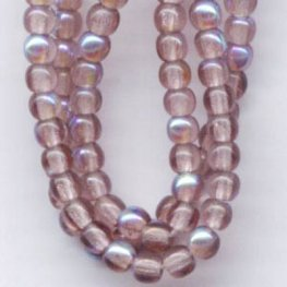 Glass - 3mm Druks - Amethyst AB (strand)
