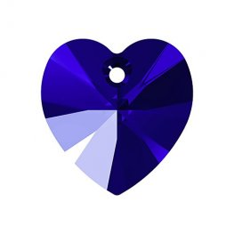 Swarovski Pendant - 14mm Faceted Xilion Heart (6228) - Majestic Blue