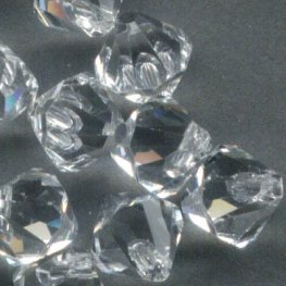 Swarovski Bead - 6mm Top-Drilled Bicone (6301) - Crystal (12)