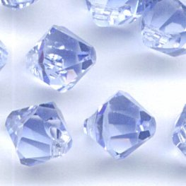 Swarovski Bead - 6mm Top-Drilled Bicone (6301) - Light Sapphire (12)
