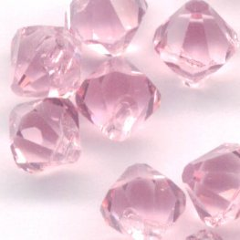 Swarovski Bead - 6mm Top-Drilled Bicone (6301) - Light Rose (12)