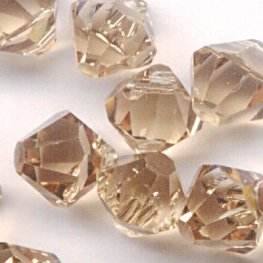 Swarovski Bead - 6mm Top-Drilled Bicone (6301) - Light Colorado Topaz (12)