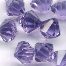 Swarovski Bead - 6mm Top-Drilled Bicone (6301) - Tanzanite (12)