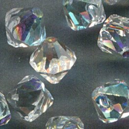 Swarovski Bead - 6mm Top-Drilled Bicone (6301) - Crystal AB (12)
