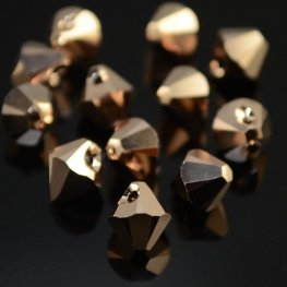 Swarovski Bead - 6mm Top-Drilled Bicone (6301) - Crystal Rose Gold 2X (12)