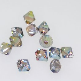 Swarovski Bead - 6mm Top-Drilled Bicone (6328) - Crystal Iridescent Green (12)