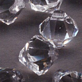 Swarovski Bead - 8mm Top-Drilled Bicone (6301) - Crystal (6)