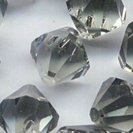 Swarovski Bead - 8mm Top-Drilled Bicone (6301) - Black Diamond (6)