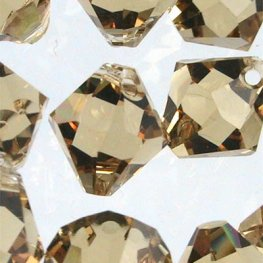 Swarovski Bead - 8mm Top-Drilled Bicone (6301) - Light Colorado Topaz (6)