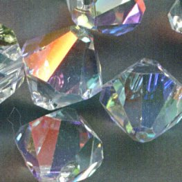 Swarovski Bead - 8mm Top-Drilled Bicone (6301) - Crystal AB (6)