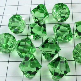 Swarovski Bead - 8mm Top-Drilled Bicone (6301) - Peridot (6)