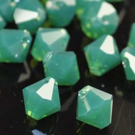 Swarovski Bead - 8mm Top-Drilled Bicone (6301) - Palace Green Opal (6)