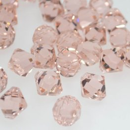 Swarovski Bead - 8mm Top-Drilled Bicone (6301) - Vintage Rose (6)