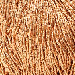 Czech Seedbeads - 10/0 2-cut Seedbeads - Metallic Gold (hank)