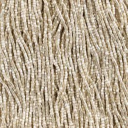 Czech Seedbeads - 10/0 2-cut Seedbeads - Metallic Silver [Terracolor] (hank)