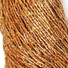 Czech Seedbeads - 10/0 2-cut Seedbeads - Deep Metallic Gold [Terracolor] (hank)