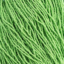 Czech Seedbeads - 11/0 Cut - Opaque Light Green (half hank)