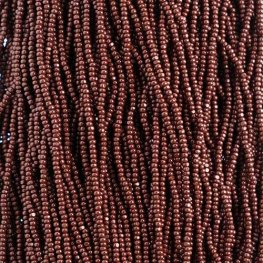 Czech Seedbeads - 11/0 Cut - Opaque Dark Brown (half hank)
