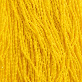 Czech Seedbeads - 11/0 Cut - Opaque Gold Yellow (half hank)