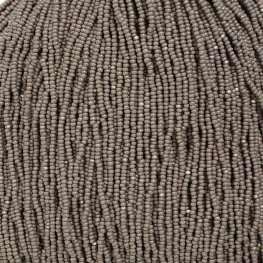 Czech Seedbeads - 11/0 Cut - Opaque Grey (half hank)
