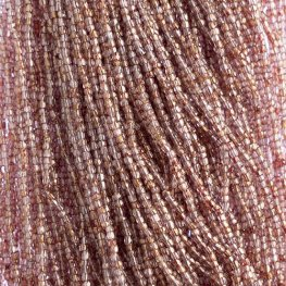 Czech Seedbeads - 10/0 3-Cut Seedbeads - Transparent Red Lustred (hank)