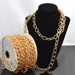 Chain - 19x13mm Coloured Aluminum Chain - Rose Gold (Metre)