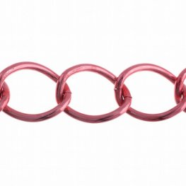 Chain - 28x22mm Coloured Aluminum Chain - Red (10 m spool)