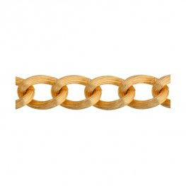 Chain - 14mm Textured Coloured Aluminum Chain - Gold (10 m spool)