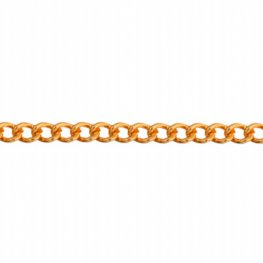 Chain - 3mm Coloured Aluminum Chain - Gold (100)
