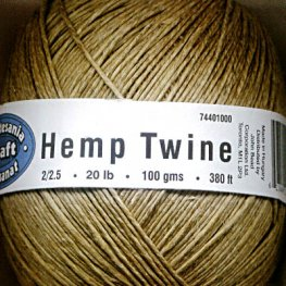 Stringing - 1mm Hemp Twine - Natural (Ball)