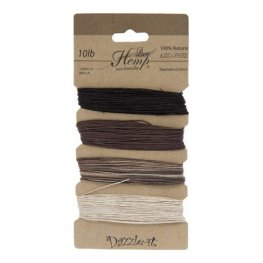 Stringing - .5mm Hemp Cord - Natural Earthy Colours (Card)