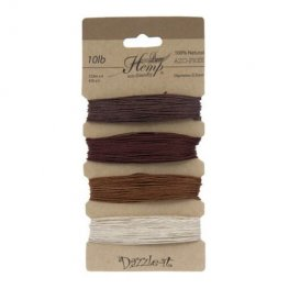 Stringing - .5mm Hemp Cord - Shades of Bronze (Card)