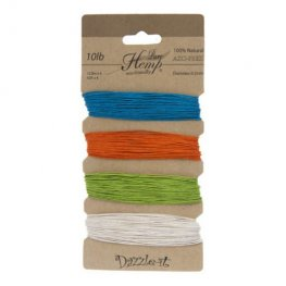 Stringing - .5mm Hemp Cord - Bright Colours (Card)